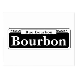 St. de Borbón, placa de calle de New Orleans Postal
