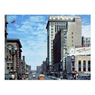 St. de Farnam, Omaha, vintage del NE Postal