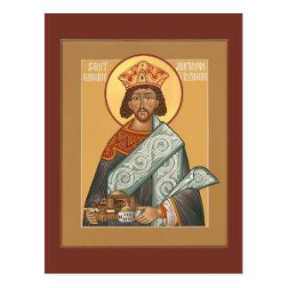St. Emperador justiniano de la tarjeta del rezo de