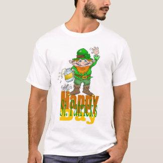 St feliz, día del ` s de Patrick., en una camiseta