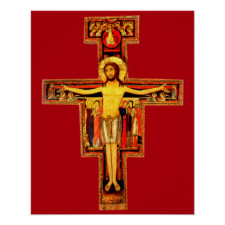 St Frances del crucifijo de San Damiano del Póster