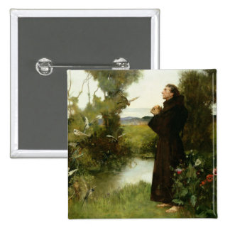 St Francis, 1898 (aceite en lona) Chapa Cuadrada 5 Cm