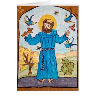 St Francis de Assisi del Retablo original Tarjeta De Felicitación