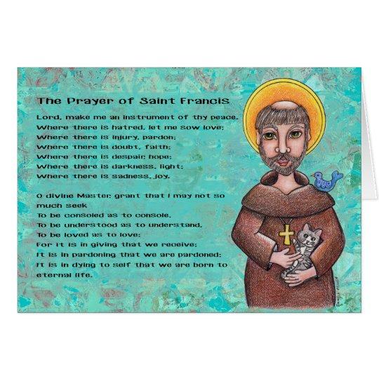St Francis de Assisi Notecard Tarjeta Pequeña