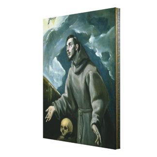 St Francis que recibe los estigmas (aceite en lona Impresión En Lienzo