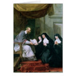 St. Francois de Sales Giving la regla Tarjeta