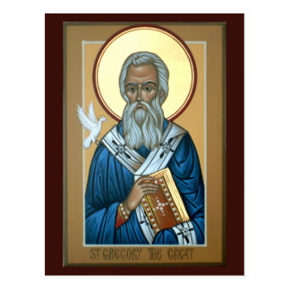 St Gregory la gran tarjeta del rezo