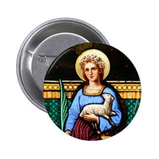 St Inés de Roma, sosteniendo el cordero y la hoja  Pin