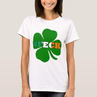 St irlandés Patricks del texto del feck de Hashtag Camiseta