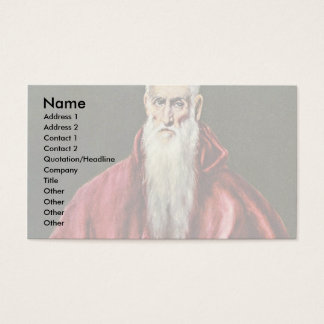 St Jerome como cardenal por el EL de Greco Tarjeta De Negocios