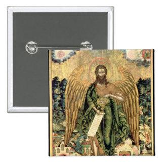 St. John el Bautista, ángel del desierto Chapa Cuadrada