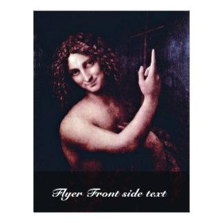 St. John el Bautista de Leonardo da Vinci Folleto 21,6 X 28 Cm