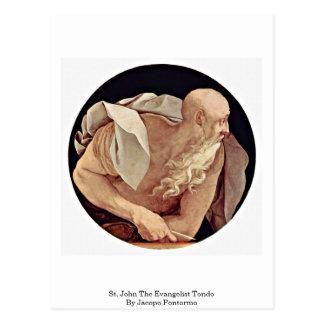 St. John el evangelista Tondo de Jacopo Pontormo Postal