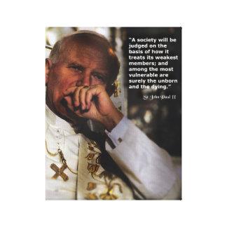 St John Paulo II Lienzo