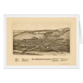 St Johnsville mapa panorámico de NY - 1890 Tarjeta