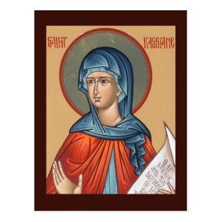 St. Kassiane la tarjeta del rezo de Hymnographer