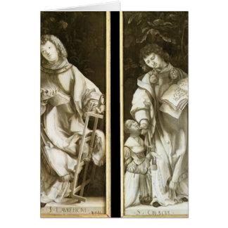 St. Lorenzo de Matías Grünewald- y St. Cyricus Tarjeta De Felicitación