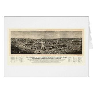 St. Louis, mapa panorámico de la feria de mundo Tarjeta De Felicitación