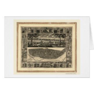 St. Louis, mapa panorámico del MES - 1848 Tarjeta De Felicitación