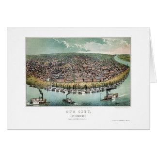 St. Louis, mapa panorámico del MES - 1859 Tarjeta De Felicitación
