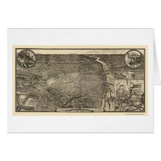 St. Louis, mapa panorámico del MES - 1876 Tarjeta De Felicitación