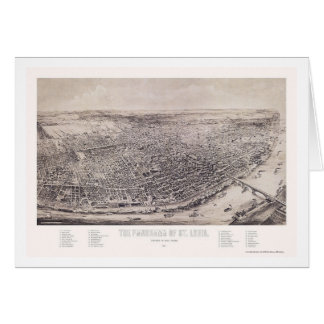 St. Louis, mapa panorámico del MES - 1894 Tarjeta De Felicitación