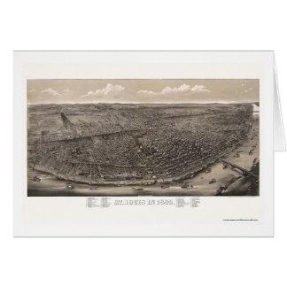 St. Louis, mapa panorámico del MES - 1895 Tarjeta De Felicitación
