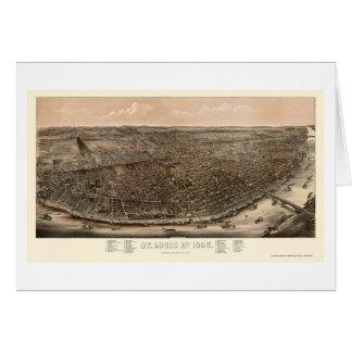 St. Louis, mapa panorámico del MES - 1896 Tarjeta De Felicitación