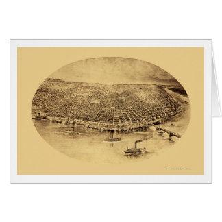 St. Louis, mapa panorámico del MES - 1897 Tarjeta De Felicitación