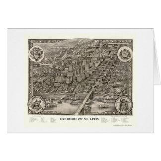 St. Louis, mapa panorámico del MES - 1907 Tarjeta De Felicitación