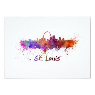 St Louis skyline in watercolor Invitación 12,7 X 17,8 Cm