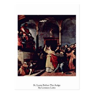 St Lucia antes del juez de Lorenzo Lotto Postal