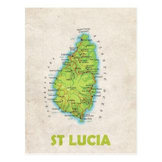 ♥ St Lucia de las POSTALES del MAPA