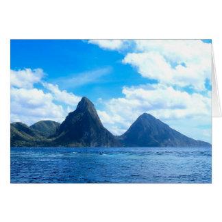 St Lucia toda la tarjeta de la ocasión