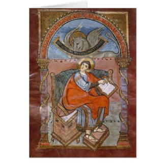 St Luke, del evangelio de St. Riquier Tarjeta