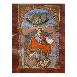 St Luke, del evangelio de St. Riquier Postal