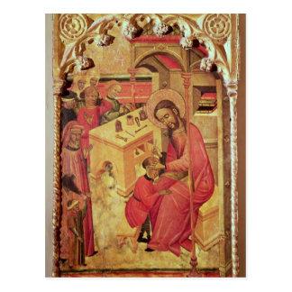 St Luke que actúa en la cabeza de un hombre, Postal