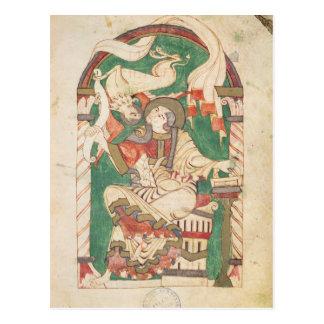 St Mark, de un evangelio de la abadía de Corbie Postal