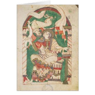 St Mark, de un evangelio de la abadía de Corbie Tarjeton