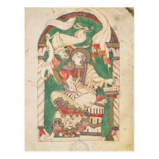 St Mark, de un evangelio de la abadía de Corbie Tarjeta Postal