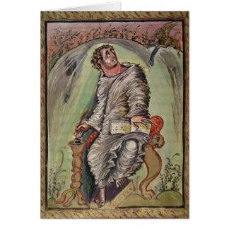 St Mark en su escritorio Tarjeta De Felicitación