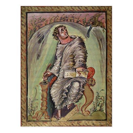 St Mark en su escritorio Tarjeta Postal