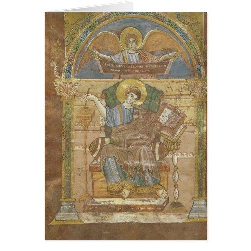 St Matthew, del evangelio de St. Riquier Tarjetas