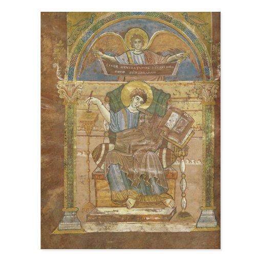 St Matthew, del evangelio de St. Riquier Postales