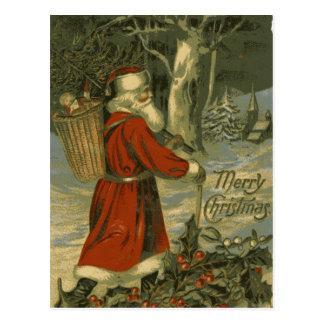 St Nick de la tarjeta de las Felices Navidad del