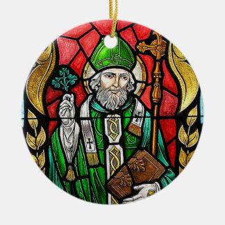 St Patrick, imagen del vitral, ornamento irlandés