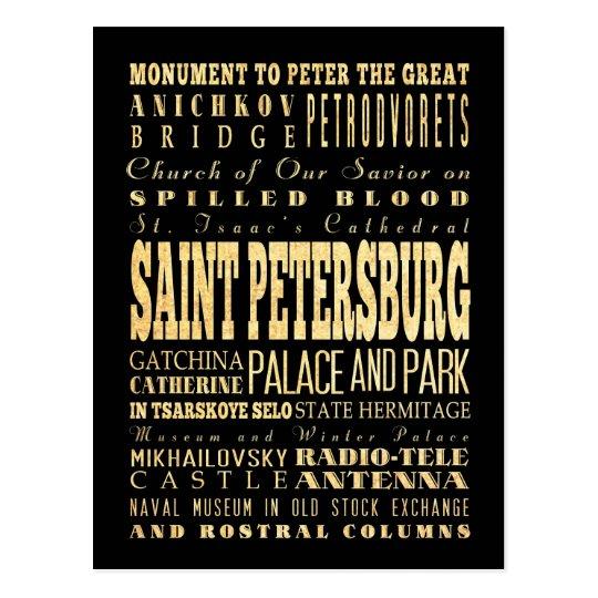 St Petersburg del arte de la tipografía de Rusia Postal