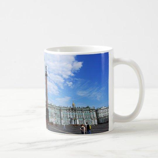 St Petersburg, palacio del invierno y columna de Taza De Café