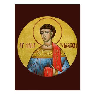 St Philip la tarjeta del rezo del diácono