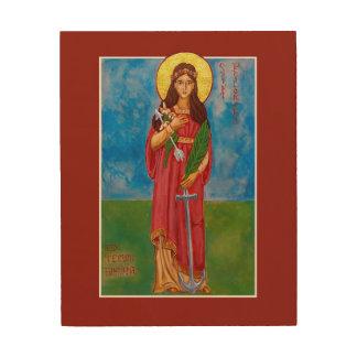 """St. Philomena 8"""" x 10"""" icono de madera de la Impresión En Madera"""